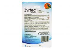 Zyrtec 10 mg Empaque Con 7 Tabletas