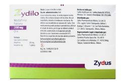 Zydilo 200 mg Caja Con 28 Tabletas