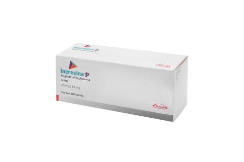 Incresina-P 25 mg / 15 mg Caja Con 28 Tabletas