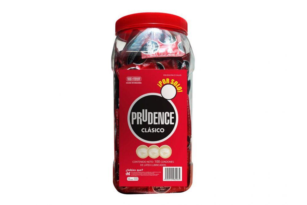 Preservativo Prudence Vitrolero Clásico Con 100 Piezas