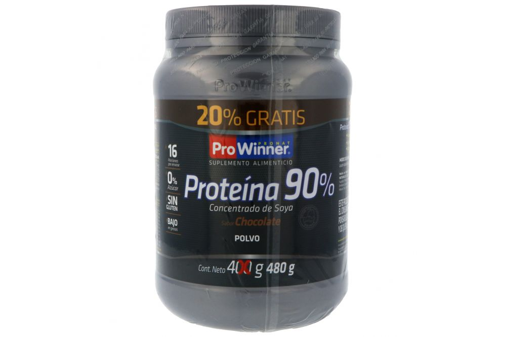 Proteina En Polvo Sabor A Chocolate Frasco Con 480 G + 20% Adicional