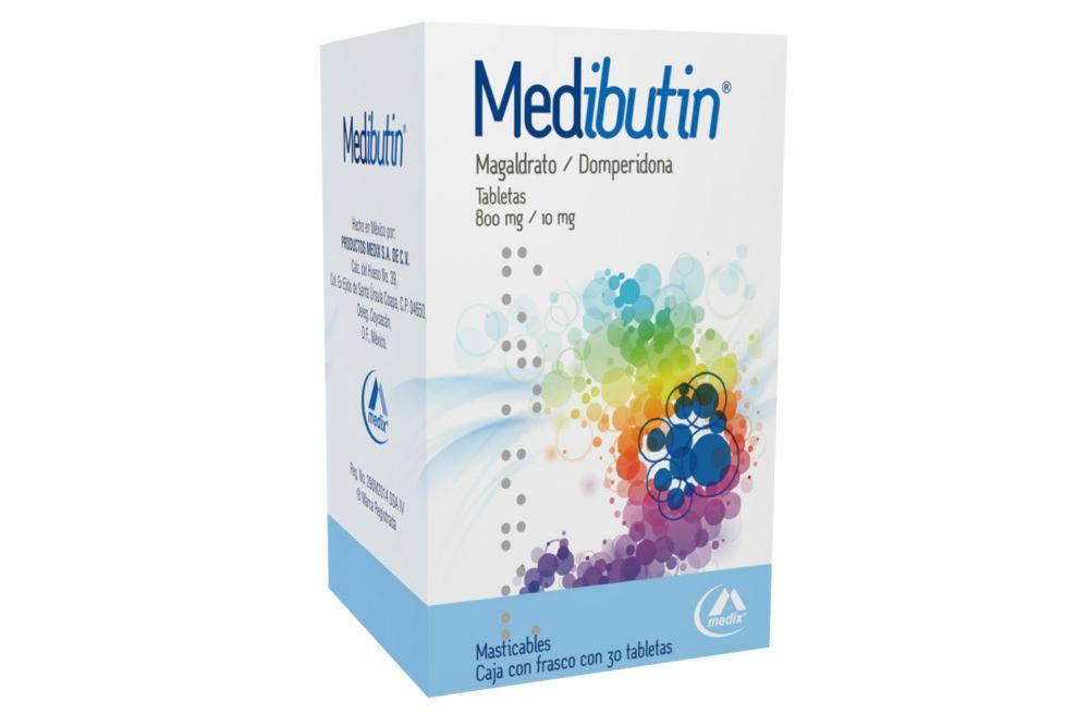 Medibutin 800 mg/10 mg Caja Con Frasco Con 30 Tabletas