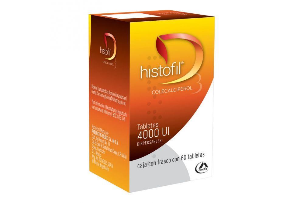 Histofil 4,000 U Caja Con 60 Tabletas