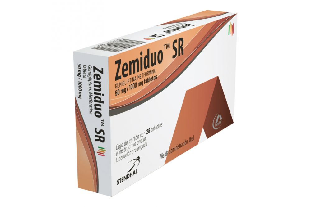 Zemiduo SR 50 mg/1000 mg Caja Con 28 Tabletas