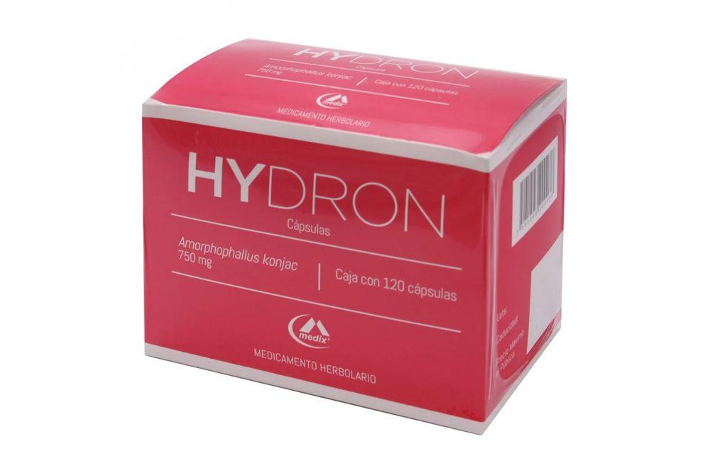 Hydron 750 mg Caja Con 120 Cápsulas
