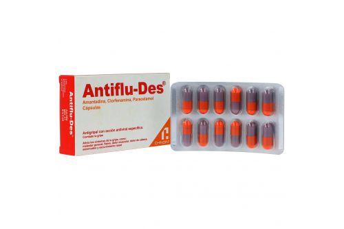Antiflu Des 3 mg/ 5 mg / 300 mg Caja Con 24 Cápsulas
