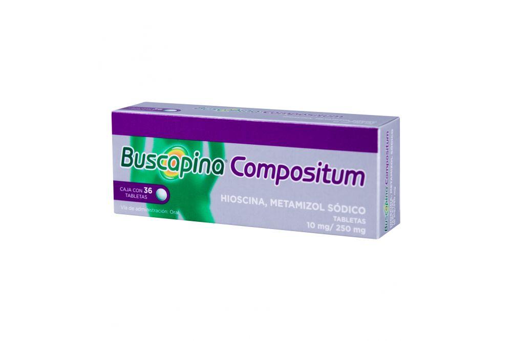 Buscapina Compositum 10 mg / 250 mg Caja Con 36 Tabletas
