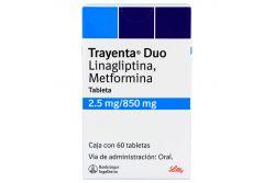 Trayenta Duo 2.5 / 850 mg Caja Con 60 Tabletas