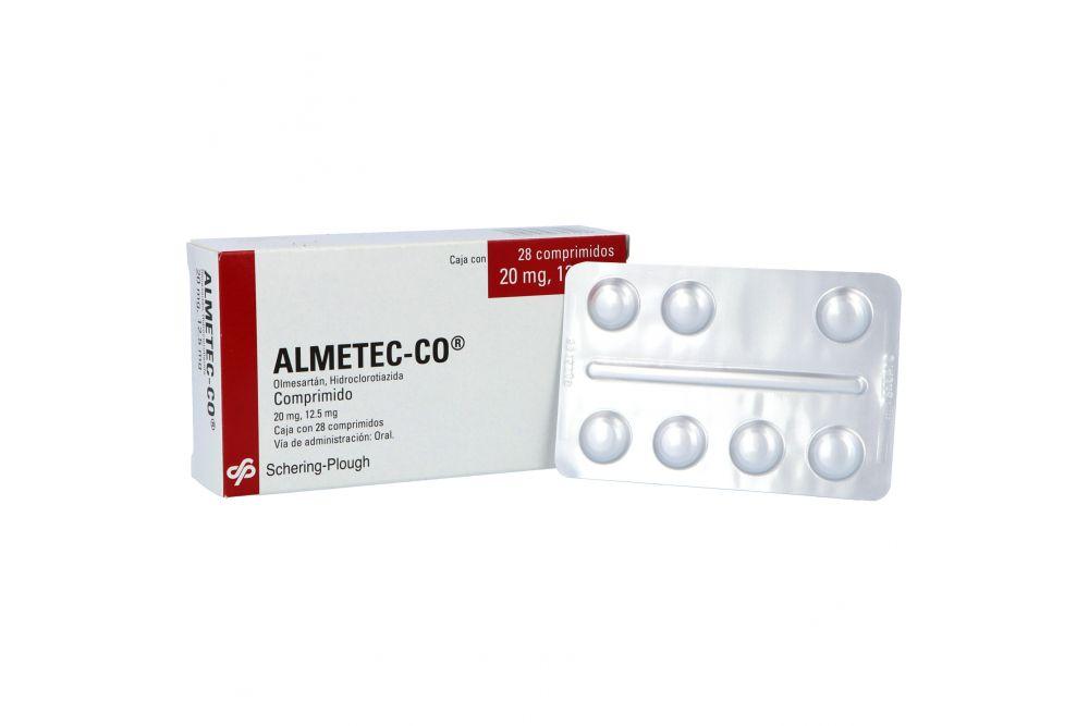 Almetec Co 20mg/12.5mg Caja Con 28 Comprimidos