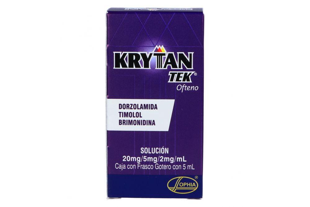 KrytanTek Ofteno 20 mg/ 5 mg /2 mg/ mL Caja Con Frasco Gotero Con 5 mL