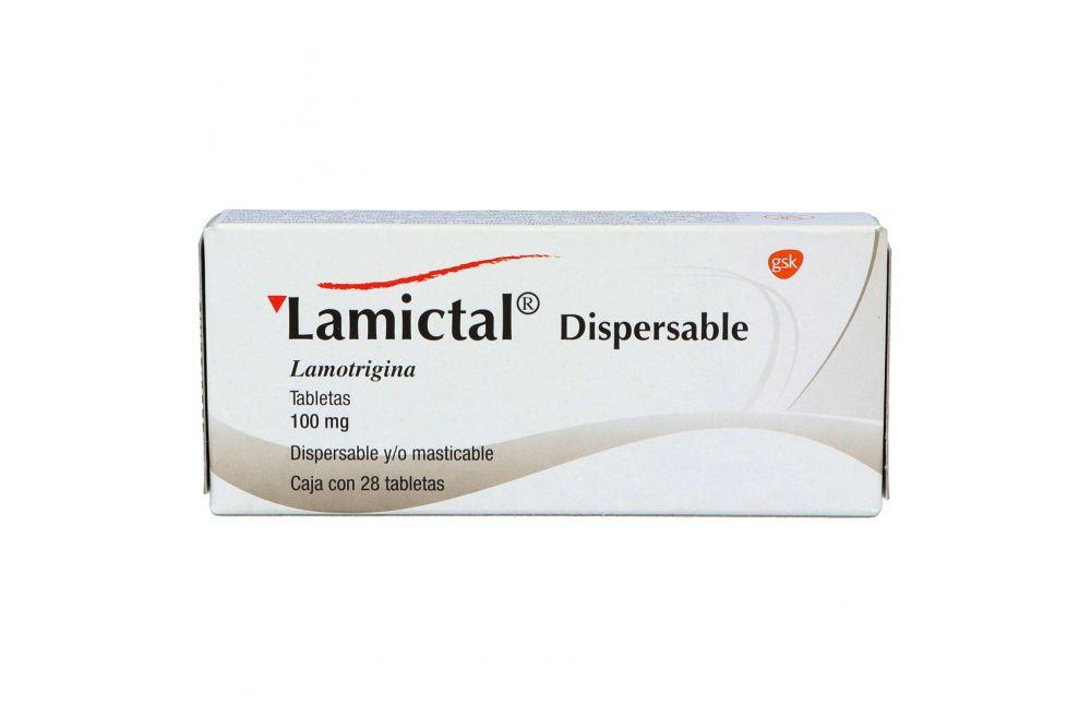 Lamictal 100 mg Caja Con 28 Tabletas