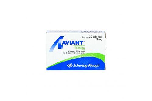 Aviant 5 mg Caja Con 30 Tabletas