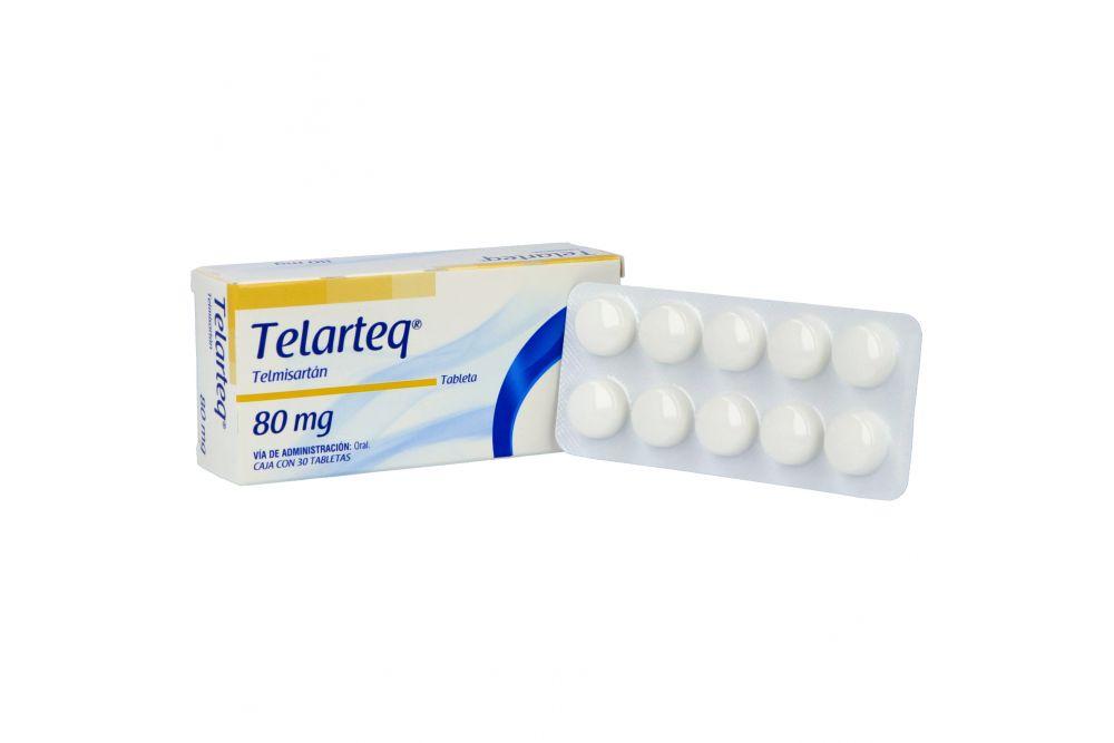 Telarteq 80 mg Caja Con 30 Tabletas