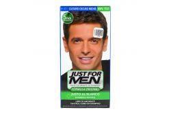 Tinte Just For Men Shampoo CASTÑO-OSCURO-MEDIO H 40 Con 4 Piezas