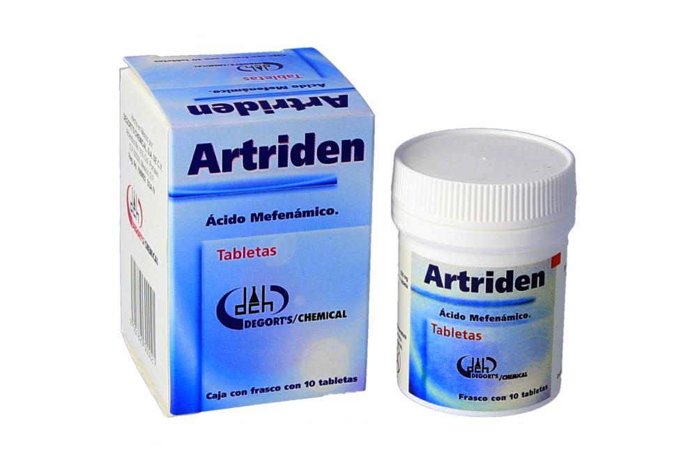 Artriden 500 mg Con 10 Tabletas