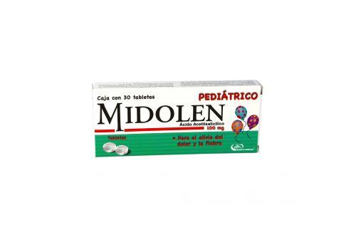 Midolen Pediatrico 100 mg Caja Con 30 Tabletas