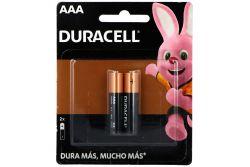Pilas Duracell AAA Empaque Con 2 Pilas