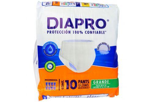Diapro Pañal Pants Grande Empaque Con 10 Pañales