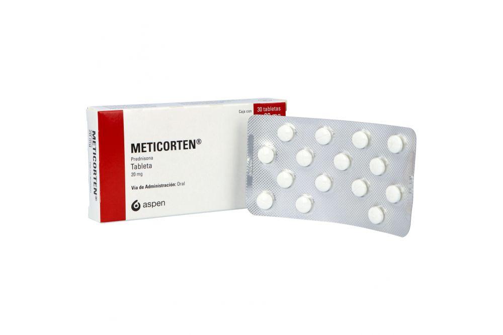 Meticorten 20 mg Caja Con 30 Tabletas