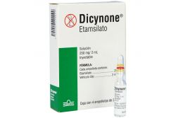 Dicynone 250 mg Caja Con 4 Ampolletas De 2 mL