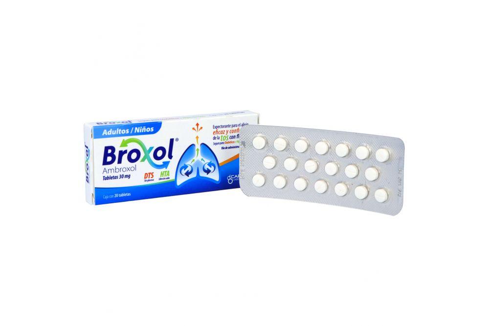 Broxol 30 mg Caja Con 20 Tabletas