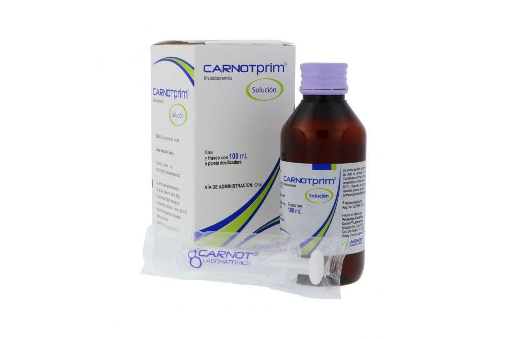 Carnotprim Solución Caja Con Frasco Con 100 mL y Dosificador