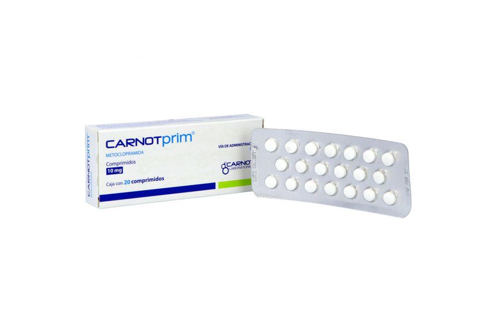 Carnotprim 10 mg Caja Con 20 Comprimidos