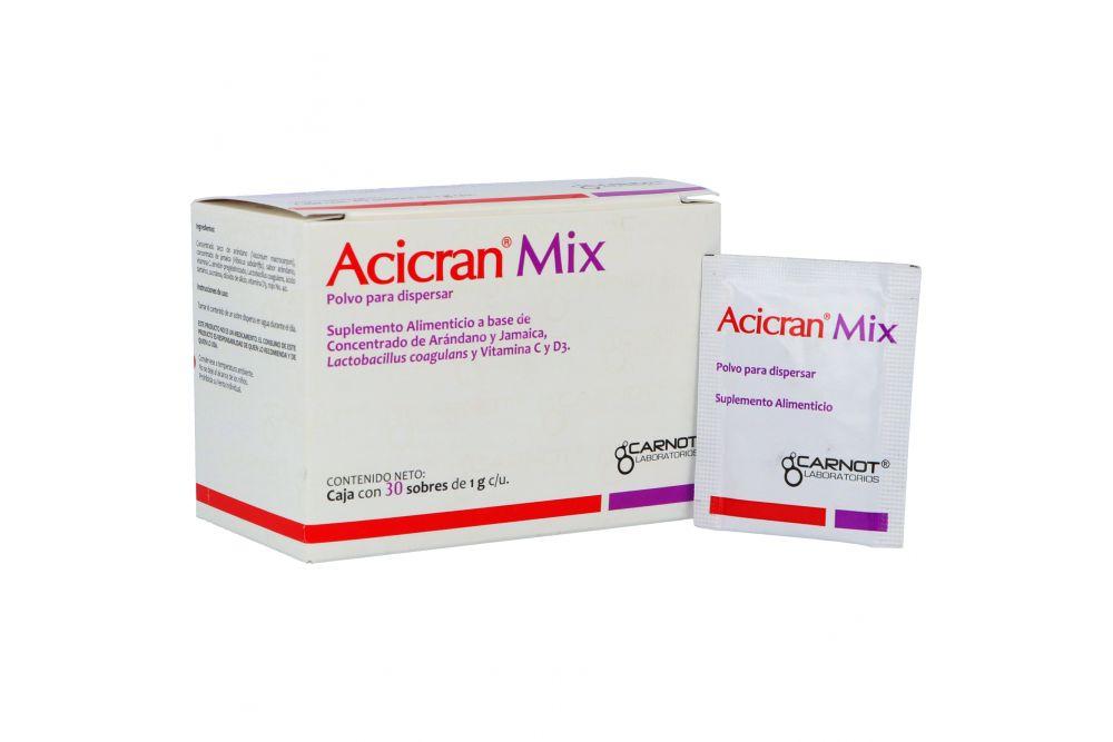 Acicran Mix Sobre Con Polvo Para Dispersar 30 Sobres de 1g