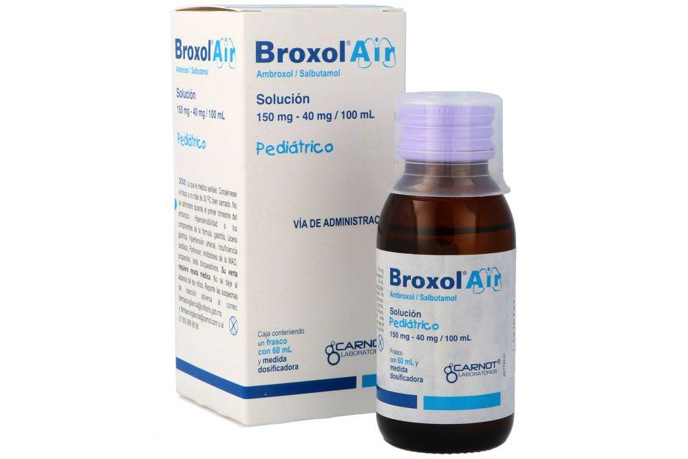 Broxol Air Solución Pediátrica 150 mg / 40 mg Caja Con Frasco Con 60 mL