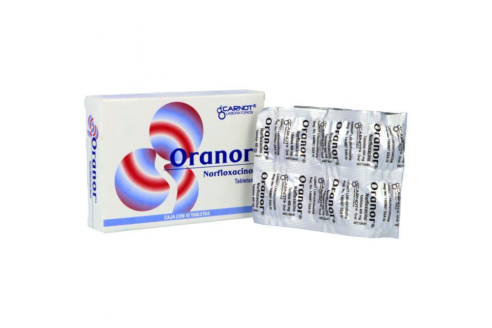 Oranor 400 mg Caja Con 10 Tabletas - RX2