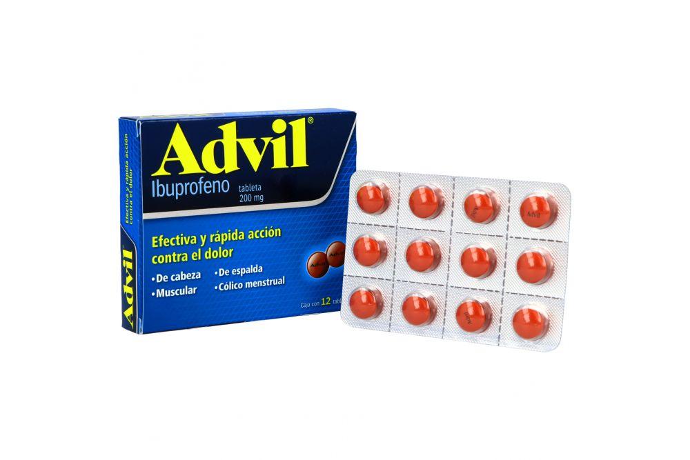 Advil 200 mg Caja Con 12 Tabletas
