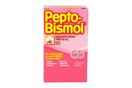 Pepto Bismol 262 mg Caja Con 100 Tabletas Masticables