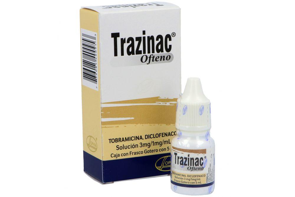 Trazinac Ofteno Solución 3 mg / 1 mg/ mL