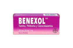 Benexol 250 mg / 250 mg / 1 mg Caja Con 30 Tabletas Con Capa Entérica