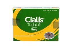 Cialis 5 mg Caja con 28 Tabletas