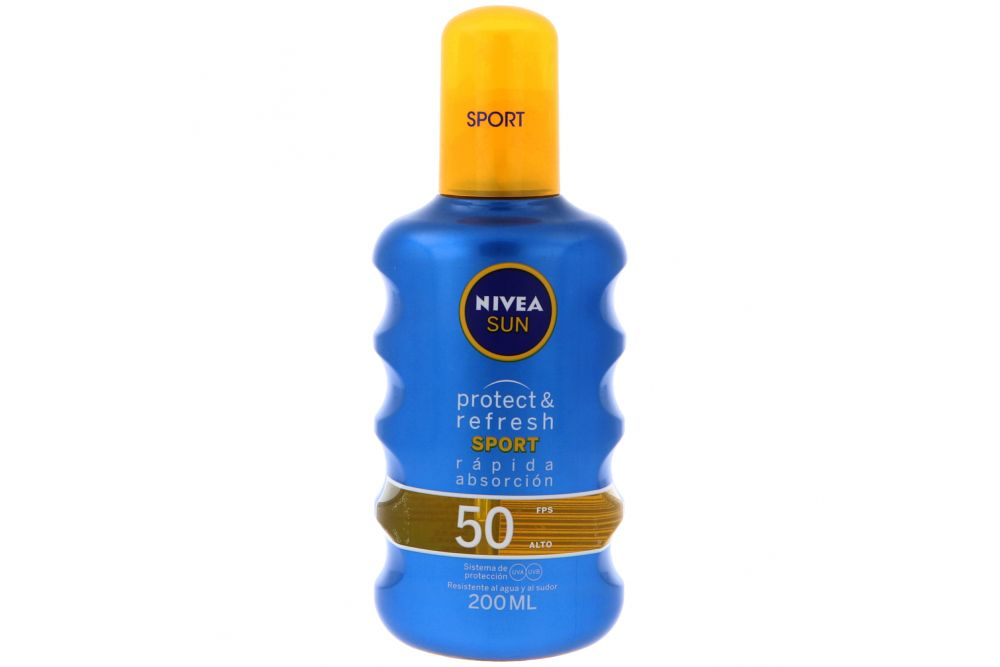 Nivea Sun Protect & Refresh Sport FPS 50 Frasco Con 200 mL