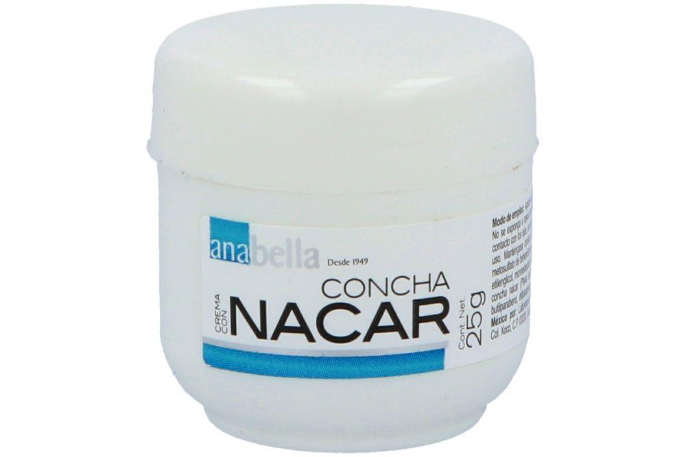 Crema Con Concha Nacar Tarro Con 25 g