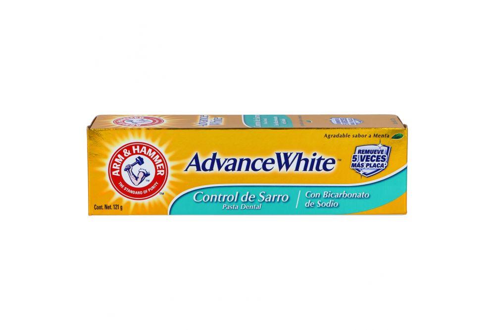 Pasta Dental Control Sarro Advance White Caja Con Tubo Con 121 g Sabor Menta