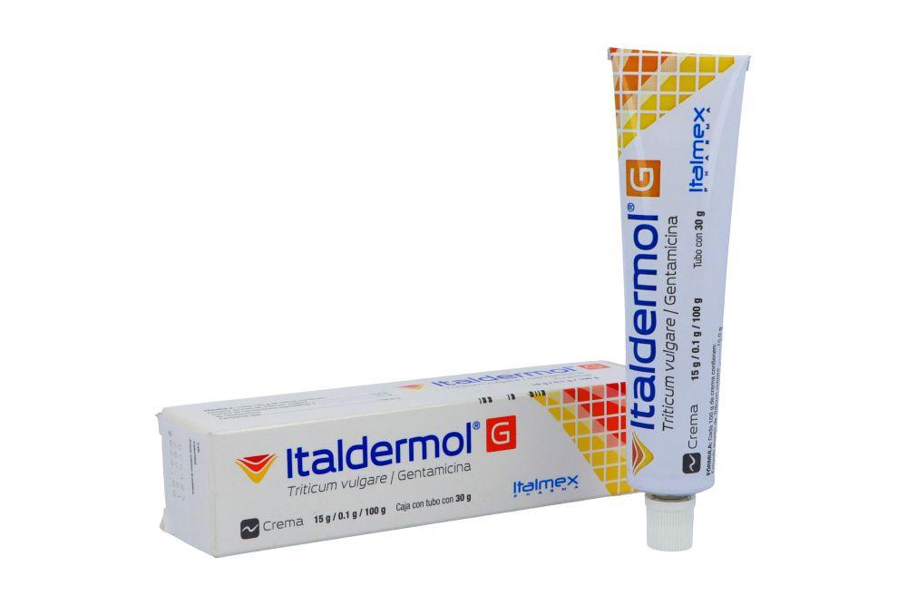 Italdermol G Crema 15 g / 100 mg Caja Con Tubo Con 30 g