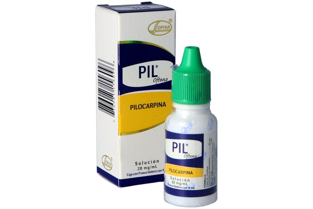 Pil Ofteno Solución 2% Caja Con Frasco Gotero Con 15 mL