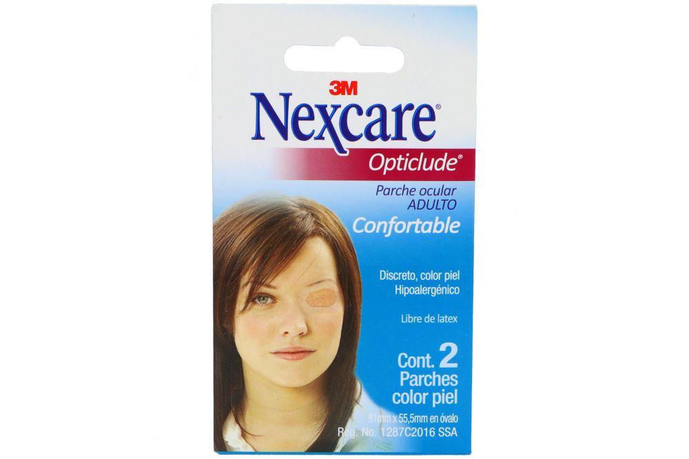 Parche Ocular Adulto Nexcare Opticlude Empaque Con 2 Piezas Color Piel