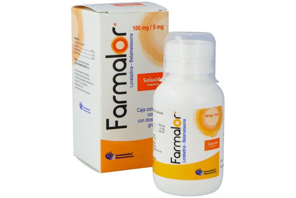 Farmalor Pediátrico 100 mg /5 mg Caja Con Frasco Con 60 mL