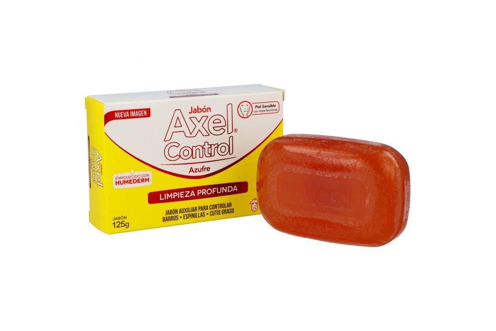 Jabón Axel Control Azufre Caja Con Barra Con 125 g