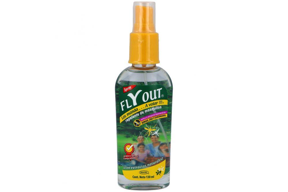 Repelente De Insectos Flyout Frasco Spray Con 130 mL
