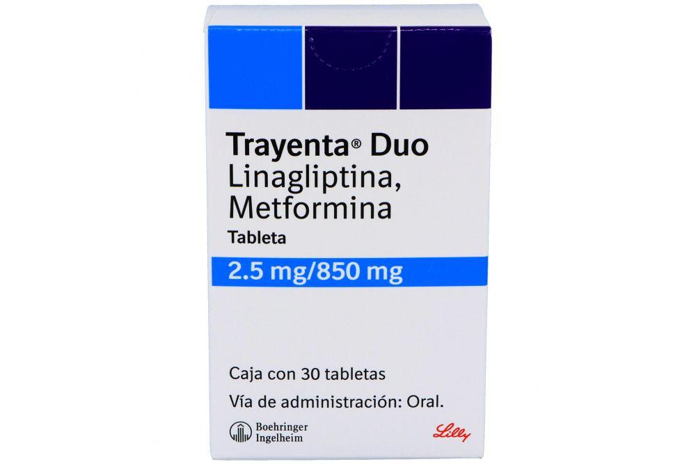 Trayenta Duo 2.5 mg /850 mg Caja Con 30 Tabletas
