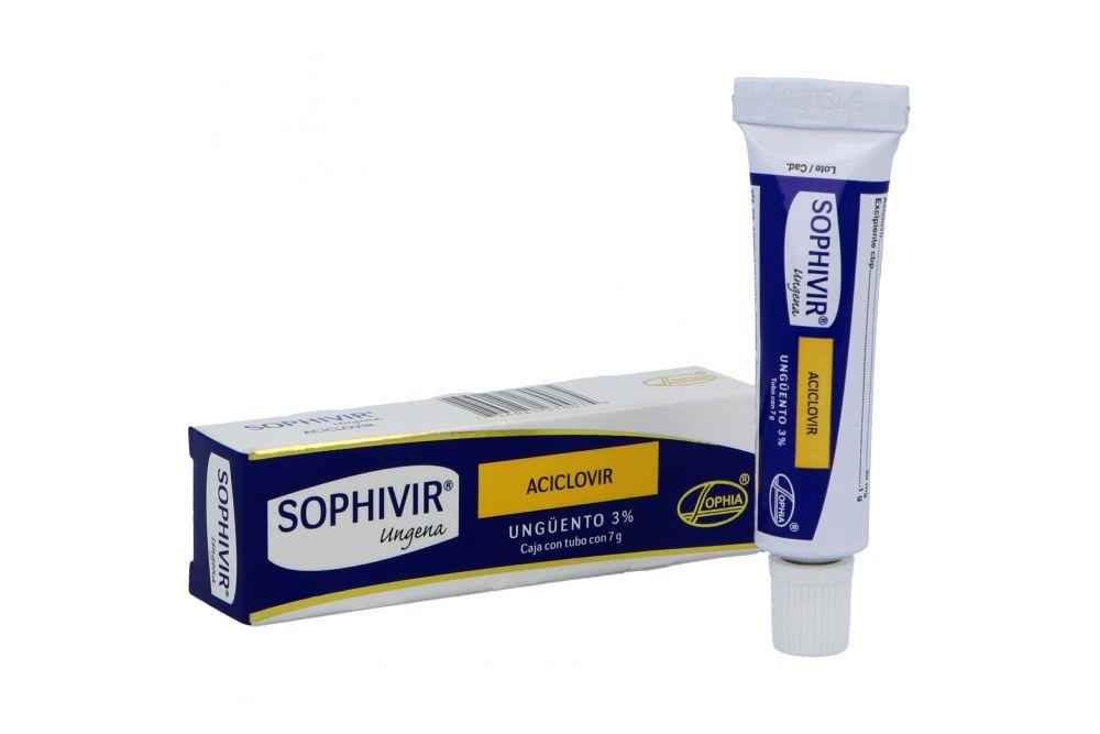 Sophivir Ungena Ungüento 3% Caja Con Tubo Con 7 g