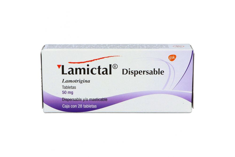 Lamictal Dispersable 50 mg Caja Con 28 Tabletas