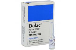 Dolac 30 mg /mL Caja Con 3 Ampolletas Con 1 mL