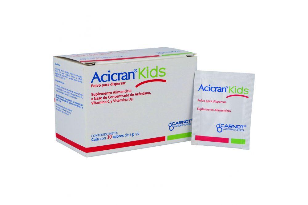Acicran Kids Polvo Para Dispersar Caja Con 30 Sobres Con 1 g