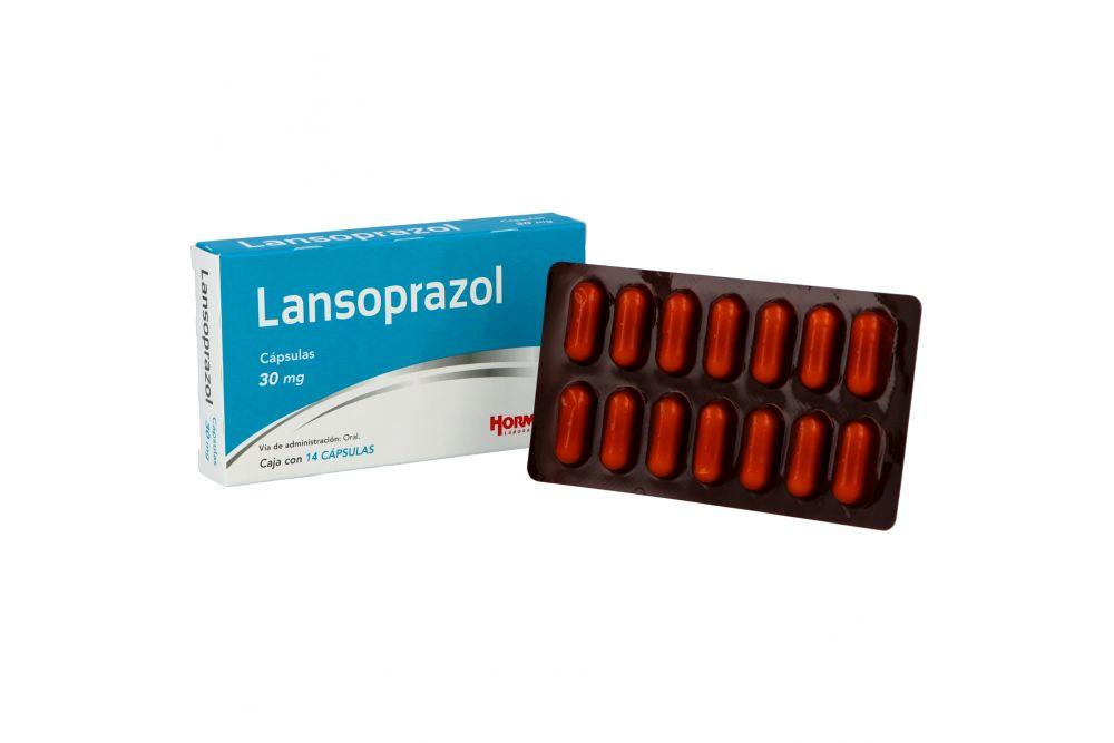 Lansoprazol 30 mg Caja Con 14 Cápsulas
